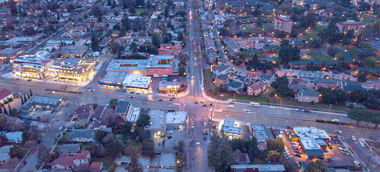 Palo Alto from above